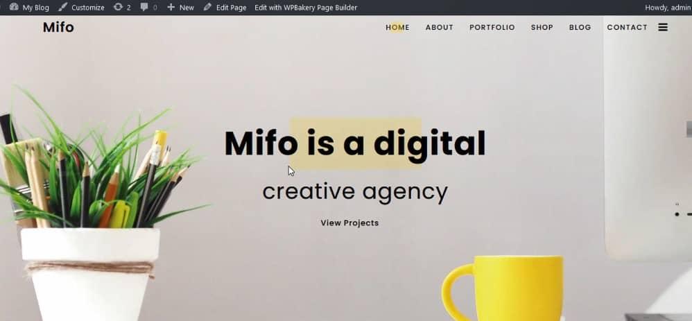 mifo portfolio wordpress theme